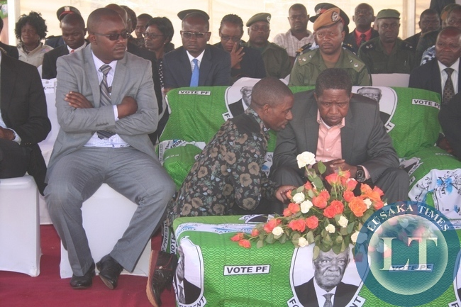 President Edgar Lungu being briefed by Masumba