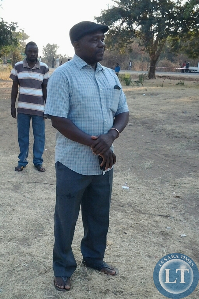 UPND candidate Peter Phiri capture at Yosefe Primary Polling station in Mfuwe of Malambo Constituency after voting