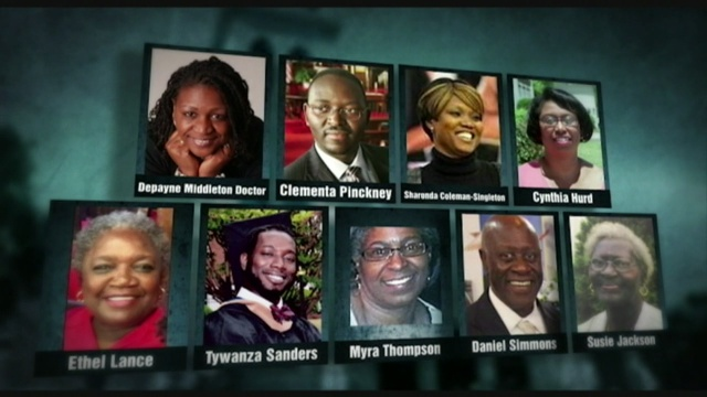 The nine victims shot and killed inside Emanuel AME Church in Charleston.courtesy wyff4.com