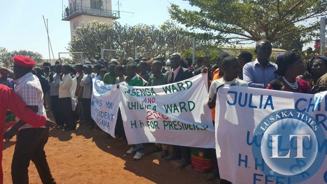 UPND Supporters welcome GBM and HH