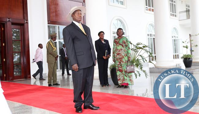 President Yoweri Museveni at Entebbe Statehouse