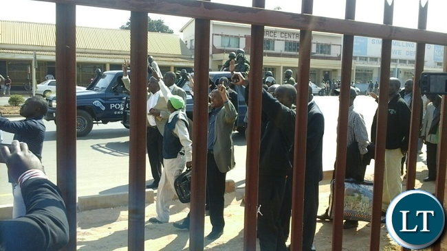 Barotse accused persons being escorted by Police