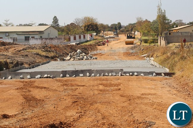 THE bridge leading to the hospital in Riverside township being worked on by the Chinese contractor in Choma.