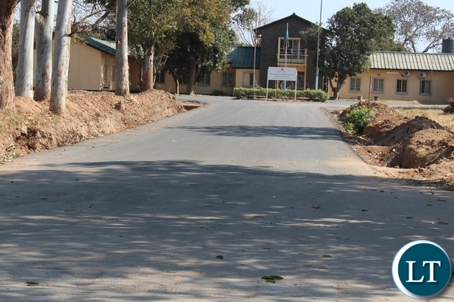 THE Southern Province administration block main entrance road has been worked on by the contractor in Choma, and now what remains are road markings and drainage.