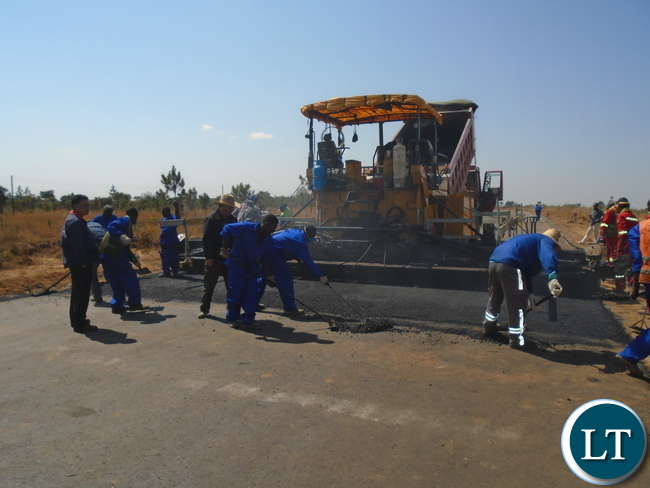 China CAMC Construction workers working on the Lot 2 of  Nakonde / Mbala Road in Muchinga Province.