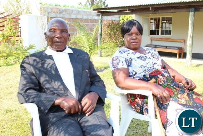 Chief Mailo of the Lala speaking people of Serenje district with his wife relaxing at villa Manandi Lodge
