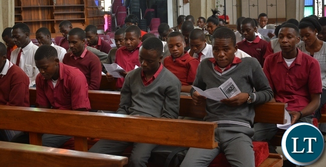 The scripture union of Zambia which turned 50 years of existence yesterday 24th September 2015 was celebrated by Pupils of different schools, this was during the scripture union of Zambia thanks giving service at the cathedral of holy cross in Lusaka.