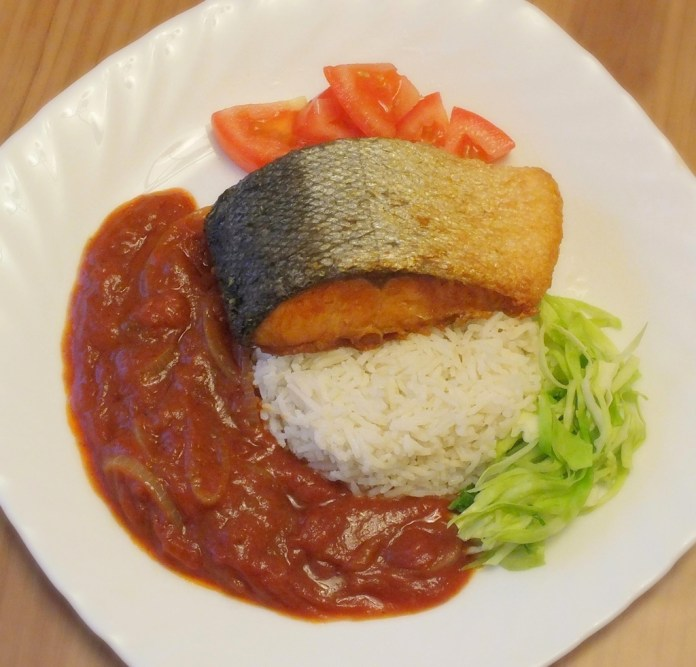 Crispy Salmon & rice 4