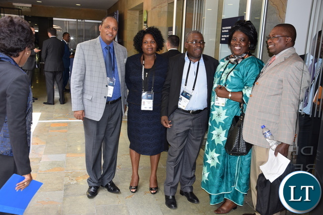 The Hon. Minister of Tourism and Arts Jean Kapata MP and her delegation at UNWTO in Colombia