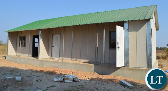 The construction of 99 rural health posts in Southern Province among the 650 countrywide is progressing well. Above, one of the facilities, Siankope health post in Choma yesterday to be commissioned next month. Picture by CHILA NAMAIKO