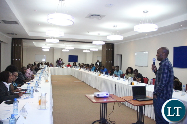 Adddiel Dzinoreva, Head of Zambezi Magic, addresses the forum