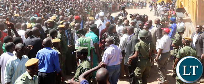 President Lungu Commisions the Bottom road