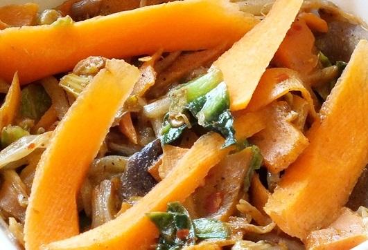 Veg stir fry close up