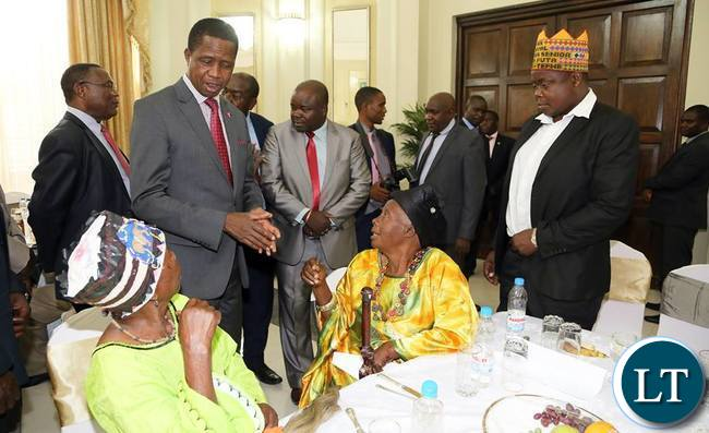 President Lungu Meeting Luapula Chiefs at Statehouse
