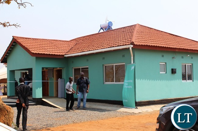 A Health post that has been constructed by Japan Tobacco International (JTI) for the community of Dwankhozi and surrounding areas in Chipangali constituency
