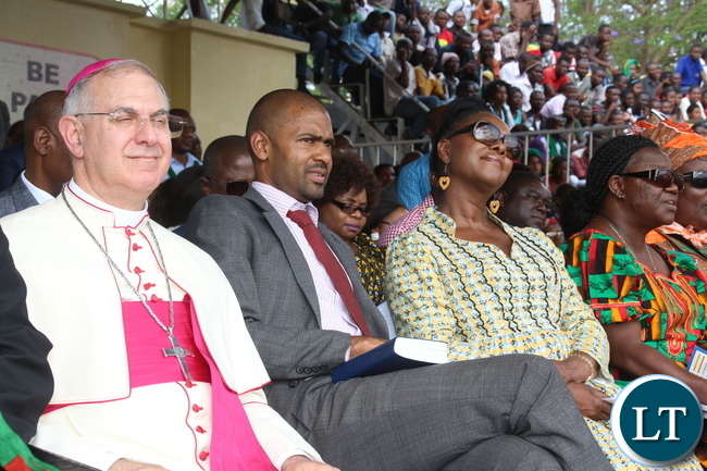 Sports Minister Vincent Mwale at the Prayer and fasting Event