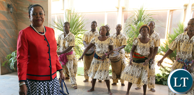 Dr Mauren Mwanawasa arrive at Mulungushi confrence Centre for the National Women Economic Empowerment Expo, which was Promoting Young Women enterpreneurs as a Change agents for Natioanl development . Picture By Eddie Mwanaleza/ Statehouse. 13-10-2015.