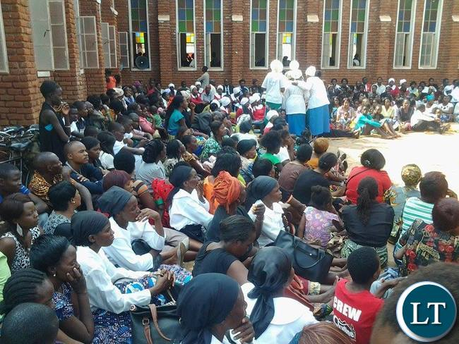 Some people who attended inter-denomination prayers and fasting at Chipata Central Reformed Church in Zambia