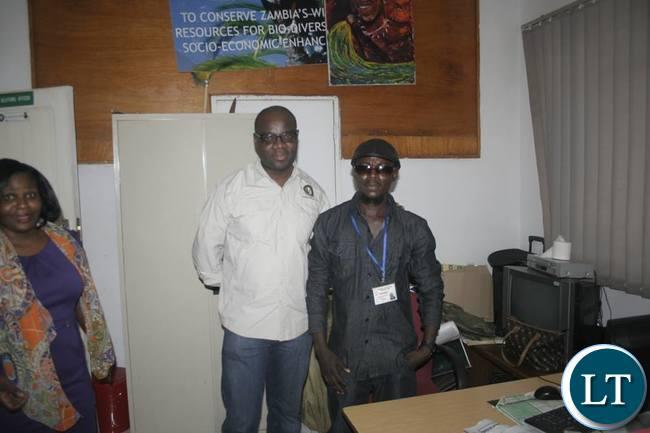 Rabson Mkandawire aka Dr Simbazako at ZAWA offices