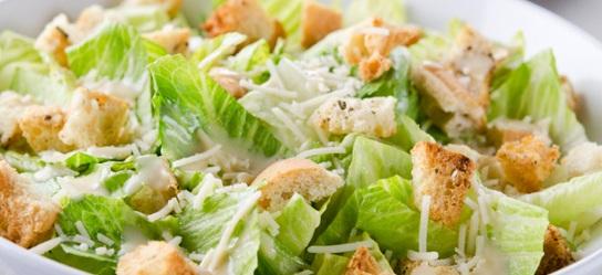 healthy caesar salad. 6