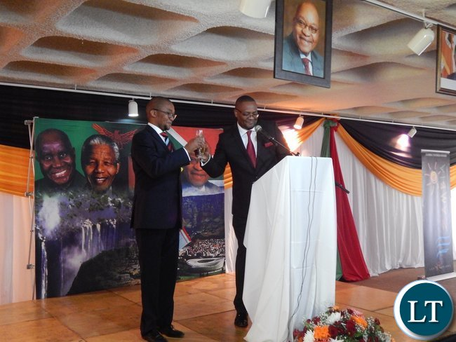 A cocktail reception at the Zambian High Commission in Pretoria (23rd October, 2015) held to commemorate Zambia's 51st Independence Anniversary