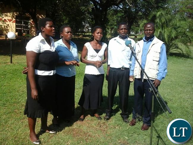 Livingstone's Chileleko Seventh day Adventist Church singers in action during the National Prayer and Fasting programe at Mukuni Park