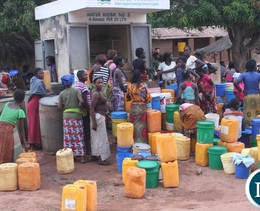 The continued power outages due to lower levels at Kariba dam has also affected water supply in Kasempa. Above, women of Muselepete compound in Kasempa drawing the commodity at a water kiosk after three days of water blues in Kasempa