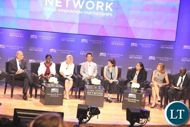 Livingstone based Nurse Joyce Mapani during a discussion  at the Just ended  Global Women's Network Summit at George W. Bush Presidenti al centre in Dallas, Texas on Tuesday, September 22,2015 -Picture by THOMAS NSAMA