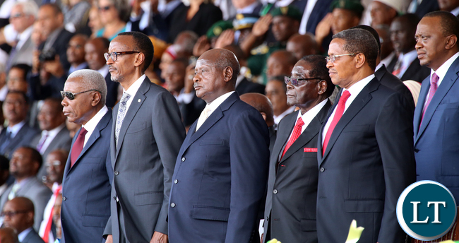 African Leaders at the Tanzania ceremony 5650