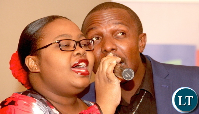 Exile (Israel) and Nalu during the Launch of Mama Kankasa Health voucher at Pamodzi Hotel on Thursday, November 6,2015 -Picture by THOMAS NSAMA