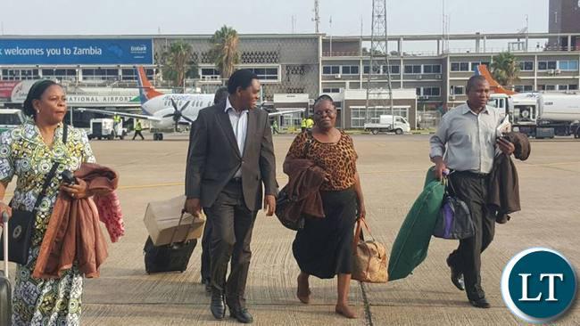 HH with former First Lady Maureen Mwanawasa at KKIA