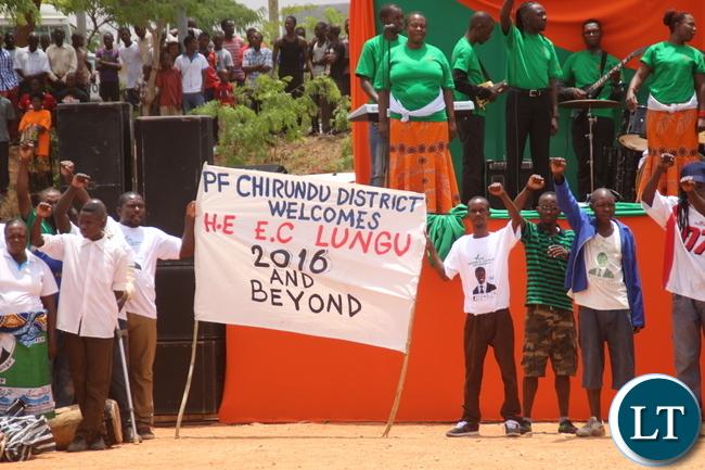 Welcome of PF Chirundu cadres.