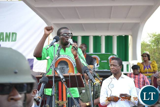 PF Kitwe District Spokesperson Christopher Kang'ombe
