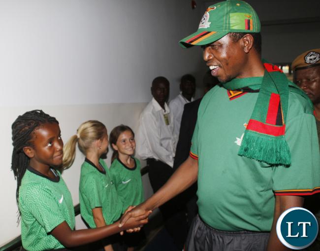 President Lungu at the Zambia Vs Sudan Match