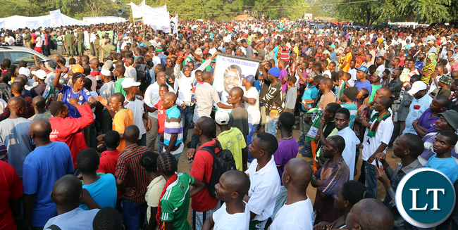 Pf rally in Kitwe at Freedom Park