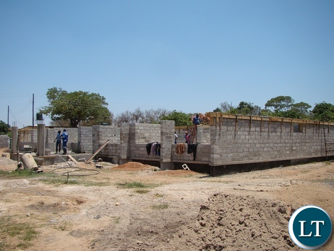 AFTER being declared as a new Provincial headquarters for Southern Province, Choma will soon have new and improved building structure. In the picture the contractor is on site working on the building.