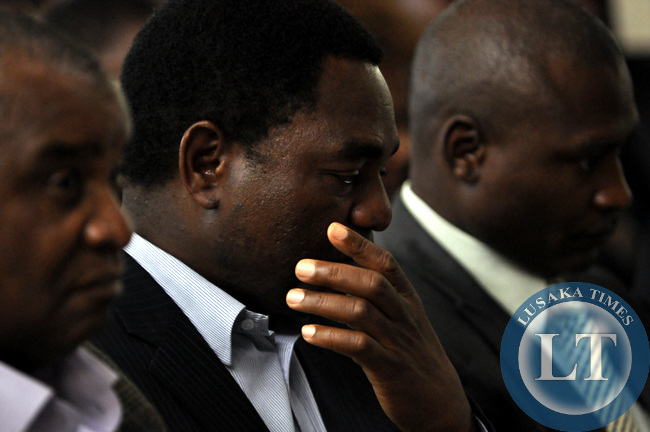 UPND president Hakainde Hichilema following proceedings during the meeting to demand for the release of the draft Zambia constitution.