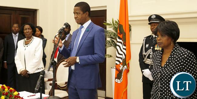 President Lungu with Mrs Wina and Ps Cabinet Ms Miyoba