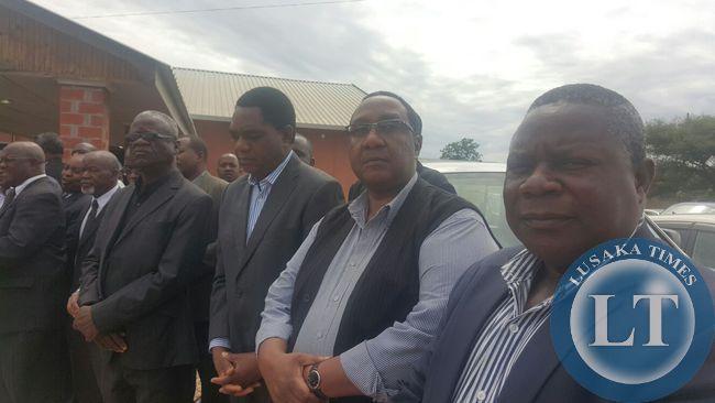 GBM, HH and Mr Kituta at Simusamba's funeral service