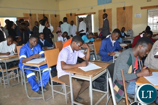 A class room of Student at the Lusaka Youth Resource Center