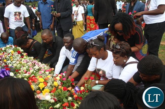 Mourners at Burial of Faith Kandaba