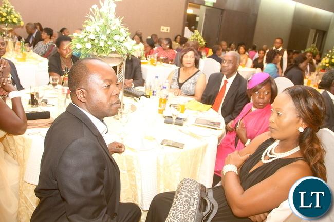 Sunday Bwalya at the wedding ceremony of Masuzgo Kaunda Junior (grandson son of Dr Kenneth Kaunda) and Makomba Silwamba (daughter of Eric Silwamba) at InterContinental Hotel in Lusaka