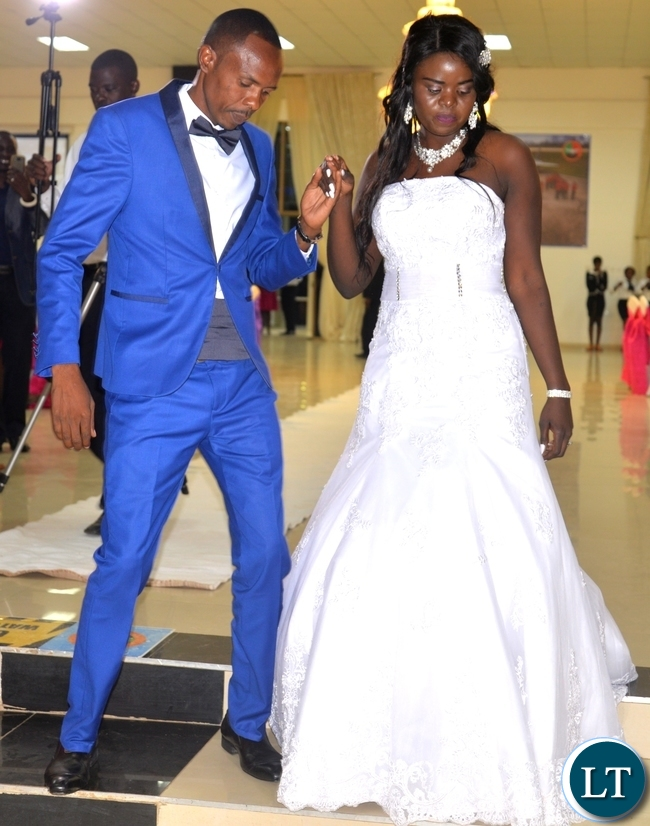 HOME Affairs Minister Davies Mwila's daughter, Leah with her husband Simon dancing at their wedding reception held at Zambia Air Force officers' mess in Lusaka on Saturday evening