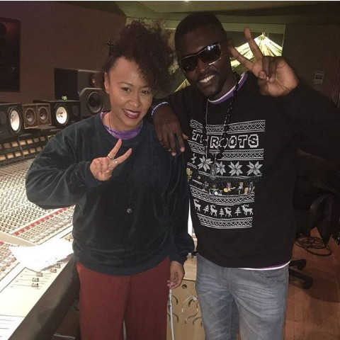 """second studio session with Emeli Sande in Oxfordshire England """