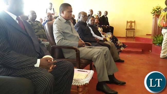 President Lungu attending a Church Service