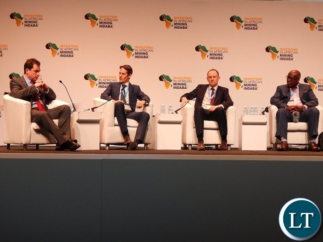 (R-L) ZCCM-IH CEO Dr. Pius Kasolo, Wood Mackenzie Senior Research Manager Mr. Nick Pickens, Eurasian Resources Group Sales Director Mr. Giles Smith  and Senior Research Analyst from Bernstein Mr. Paul Gait during a panel discussion on 8th February, 2016