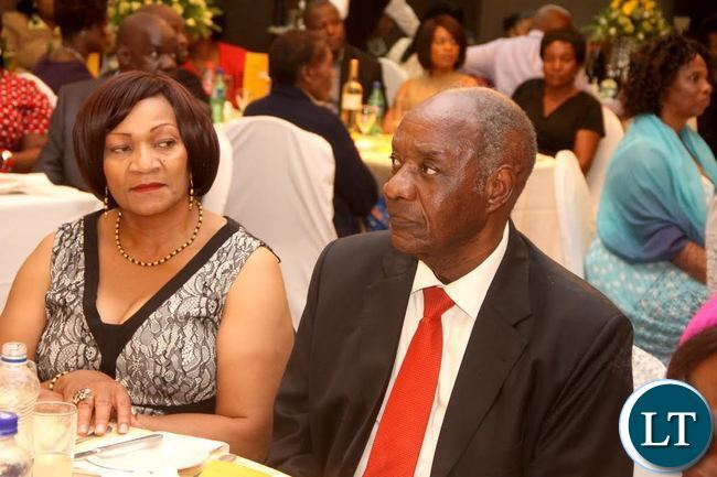 Veteran Politician Vernon Mwaanga during the Wedding Ceremony of Masuzgo Kaunda Junior (grandson son of Dr Kenneth Kaunda) and Makomba Silwamba (daughter of Eric Silwamba) at InterContinental Hotel in Lusaka