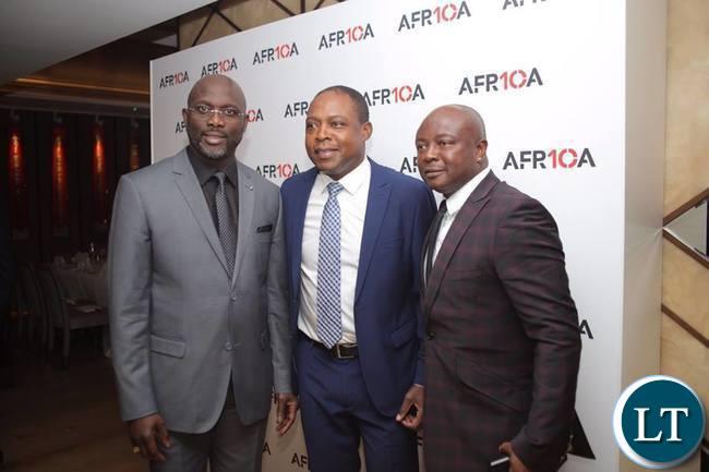 Kalusha, George Weah and Abedi Pele