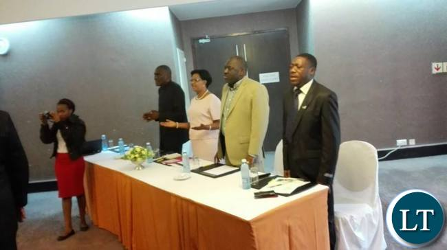 Launch of Christians For Lungu at Intercontinental Hotel