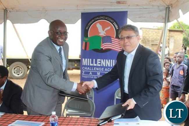 Millennium Challenge Account - Zambia Contract signing  ceremony
